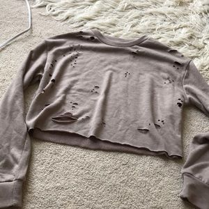 Distressed cropped top from missguided